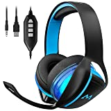 Mpow 7.1 Gaming Headset, Tuly 7.1 Surround Sound Gaming Headphone, with Noise Cancelling Mic, Volume & Mic Control, LED Light 3.5mm / USB Headset for PC, PS4, Xbox One