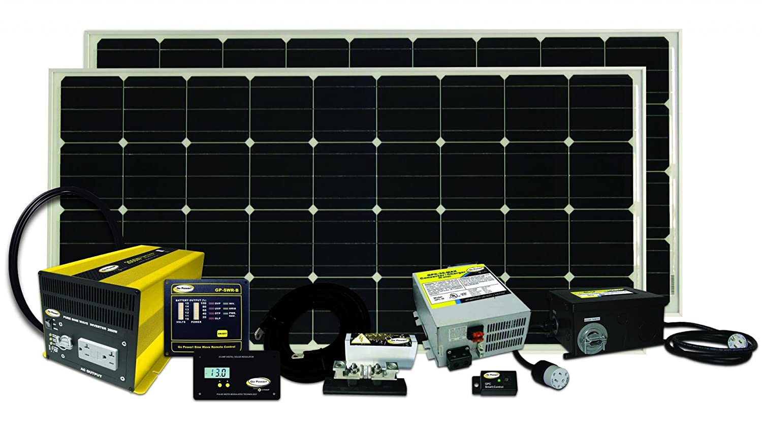 The Go Power! Solar Elite Complete  Solar and Inverter System