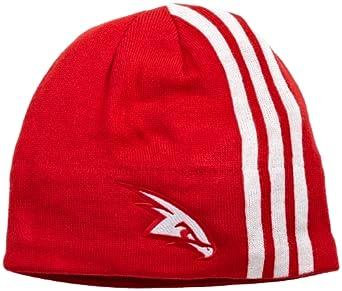 NBA Authentic Team Knit Hat - Kf10Z, Atlanta Hawks, One Size, Red white , Atlanta... by adidas
