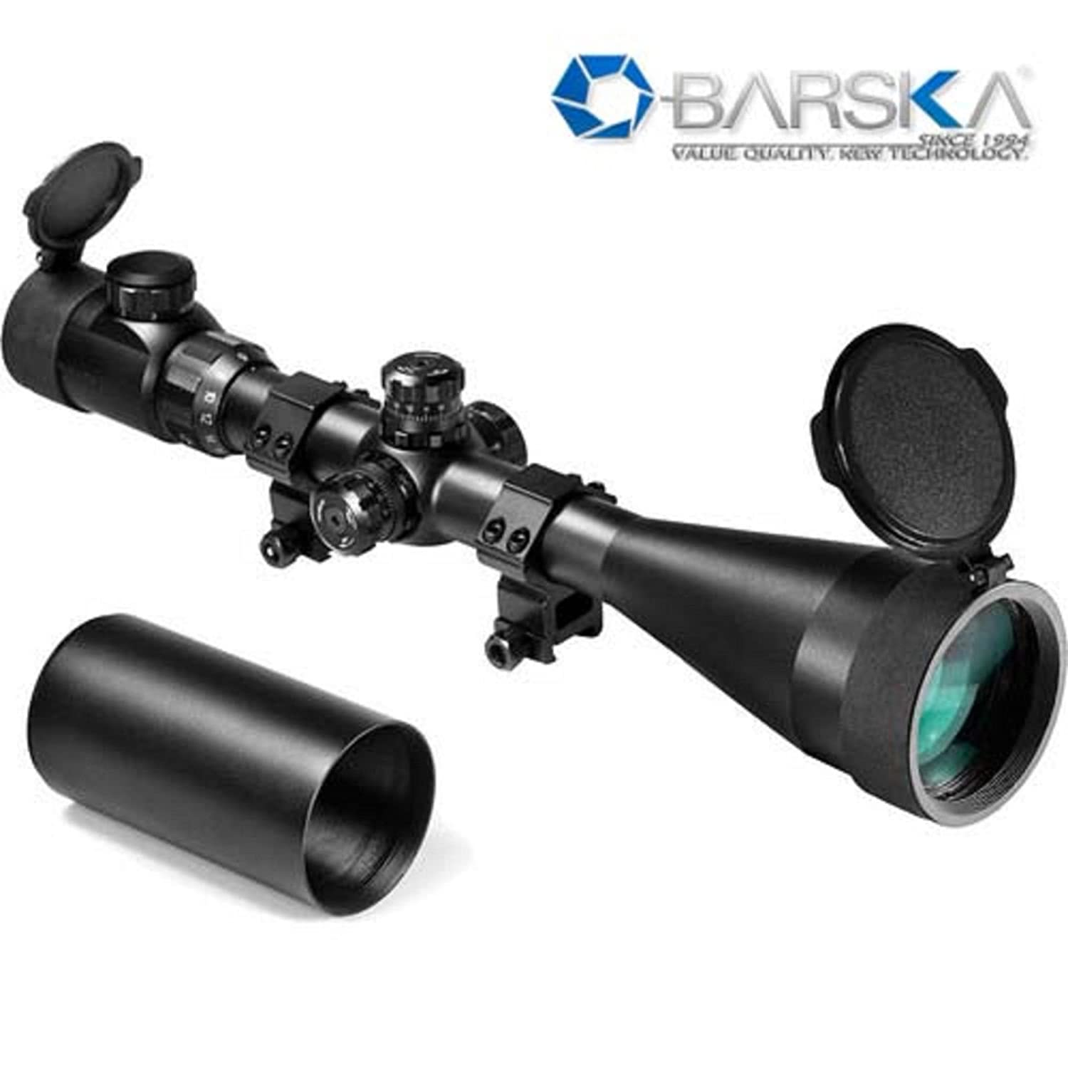 Barska 6 - 24 x 60mm Swat Series Riflescope, Matte Black Finish with Mill-Dot IR Illuminated Reticle, 30mm Tube -...
