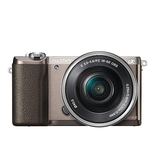 "Sony ILCE5100LT.CEC A5100 Appareil Photo hybride 3"" (7,62 cm) 24,3 Mpix Wi-Fi/USB/HDMI Brun"