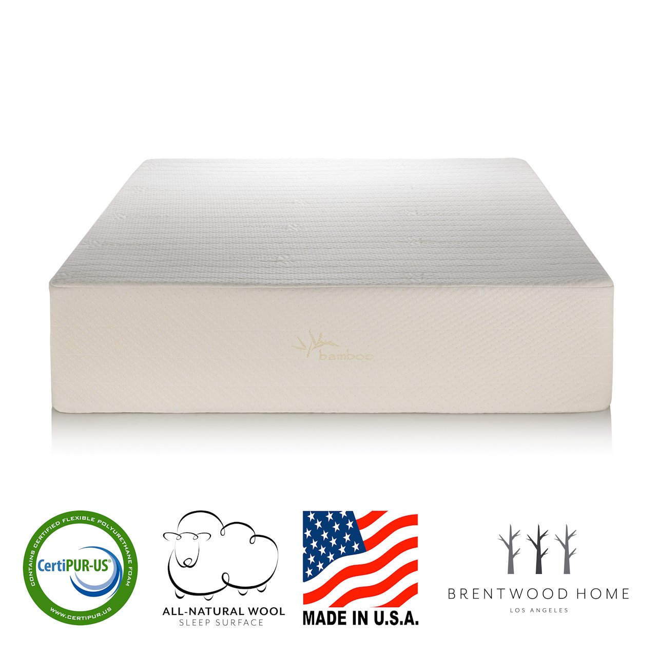 Brentwood Home Bamboo Gel 13 Memory Foam Mattress Made in