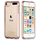 ULAK iPod Touch 6 Case, iPod Touch 7 Case, Clear Slim Hybrid Clear Bumper TPU/Scratch Resistant Hard PC Back Cover/Corner Shock Absorption Case for Apple iPod Touch 5 6th 7th Gen, Rose Gold (Color: Rose Gold)