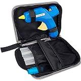Hot Glue Gun Kit - 60/100W Dual Temp Glue Gun Full Size(Not Mini) with 10pcs Glue Sticks & other Accessories in Carrying Case, Best Glue Gun for Sealing Repairing Craft DIY (Color: Blue+Yellow, Tamaño: Full Size)
