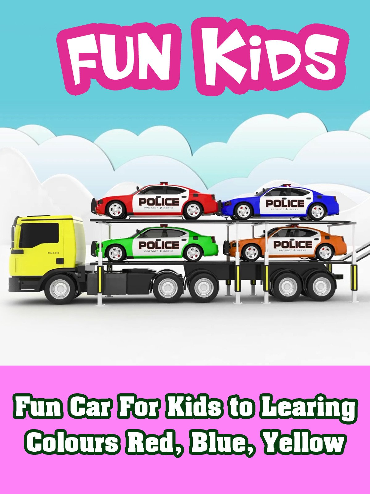 Fun Car For Kids to Learing Colours Red, Blue, Yellow