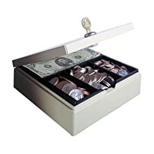 STEELMASTER Locking Drawer Safe, Includes Keys, 6.75 x 2 x 7.88 Inches, Sand (227107003)