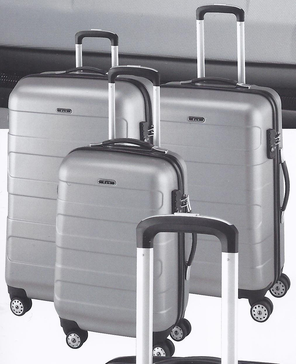 d&n Travel Line 8600 3teiliges Set 4-Rollen Trolleys silbergrau