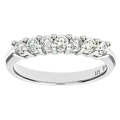 Naava 9ct White Gold Diamond Claw Set Eternity Ring