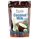 USDA Certified Organic Coconut Milk Powder 100% Pure Concentrated Powder, Raw, Vegan - From Essona Organics - Now 33% Larger Size - 240 grams in a convenient, resealable pouch. (Tamaño: 240 grams)