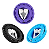 MAIRUI Earbud Holder Earphone Case Tangle Free Cord Organizer Earbuds Wrap Silicone Magnetic Headphone Holder Storage Case Cable Keeper for iPhone Apple/Samsung/Sony Earphones (3 Pack) (Color: Black+Blue+Purple, Tamaño: 3 Pack)