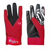 AJ Styles P1 Logo Pro Wrestling Fight Gloves, One Size, Red (Color: Red, Tamaño: One Size)