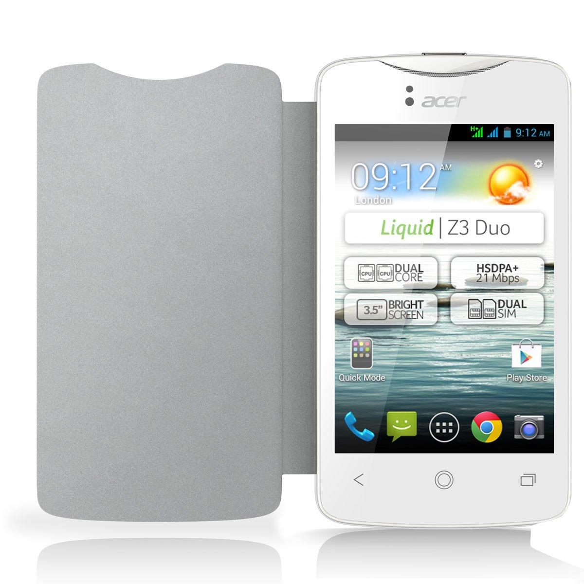 Acer HP.OTH11.009 - Funda con tapa para Acer Z3 (neopreno), color blanco  Electrónica más información y revisión