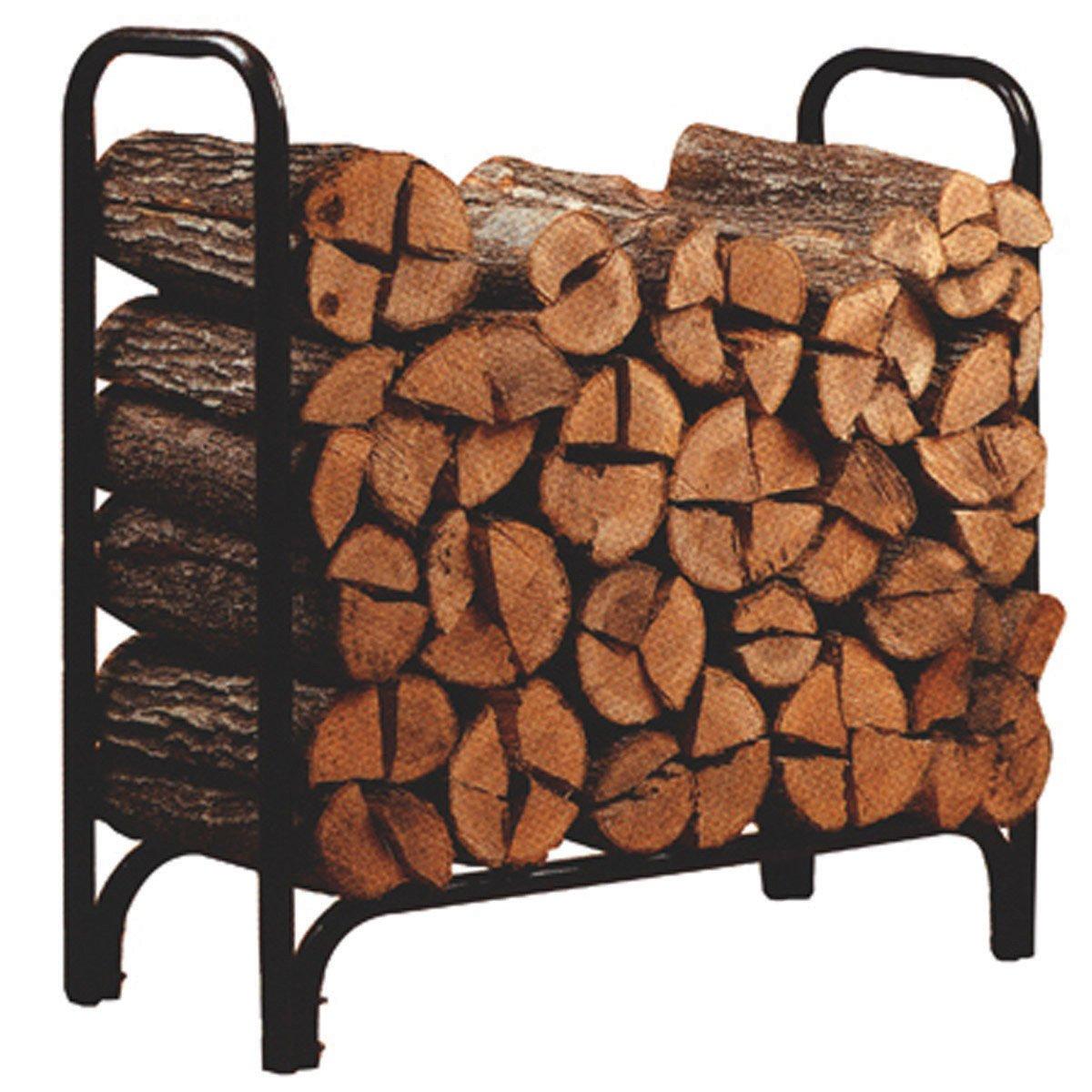 4 Foot Fireplace Outdoor Log Bin Wood Storage Rack