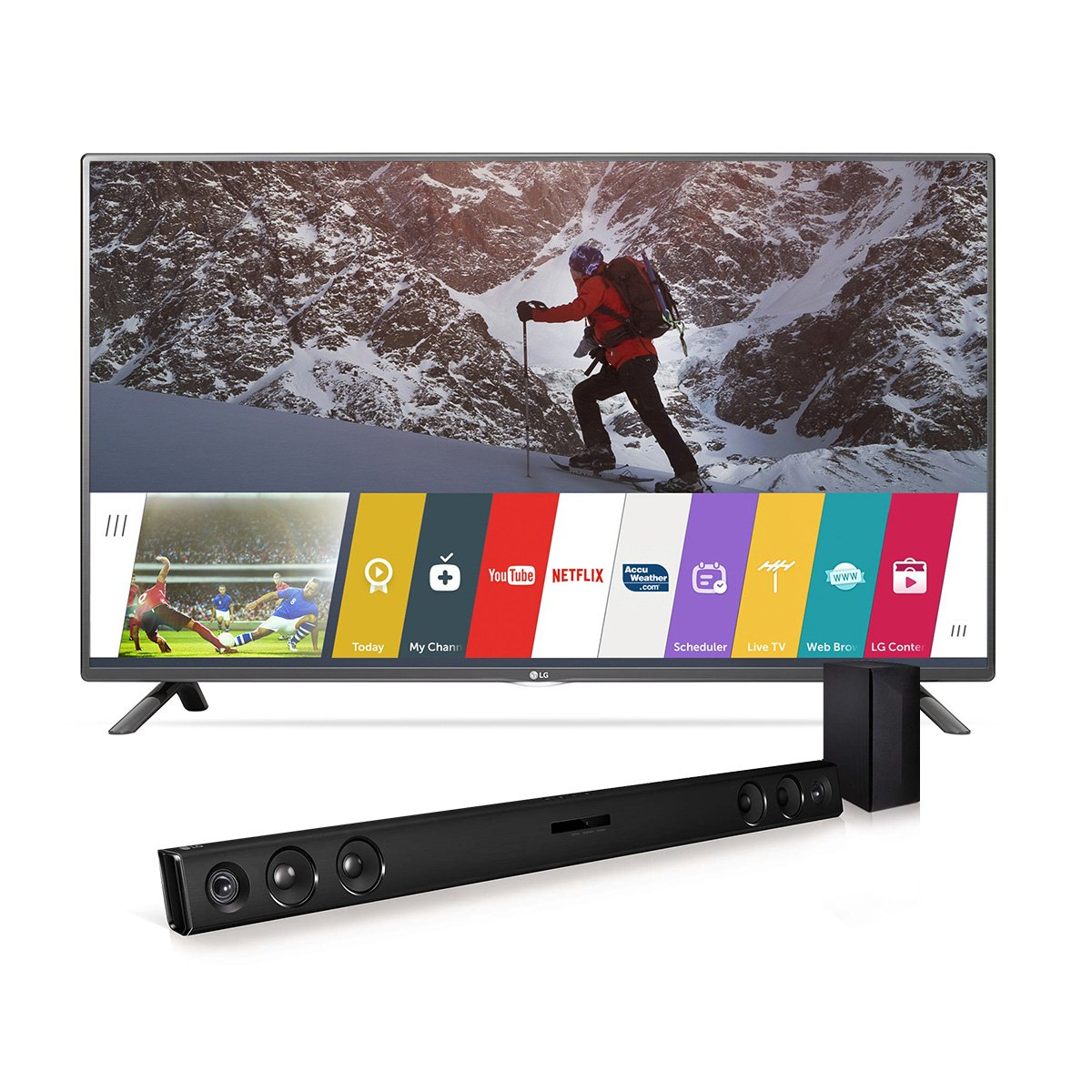 LG Electronics 43LF5900 43-Inch Smart LED TV with LAS454B Soundbar