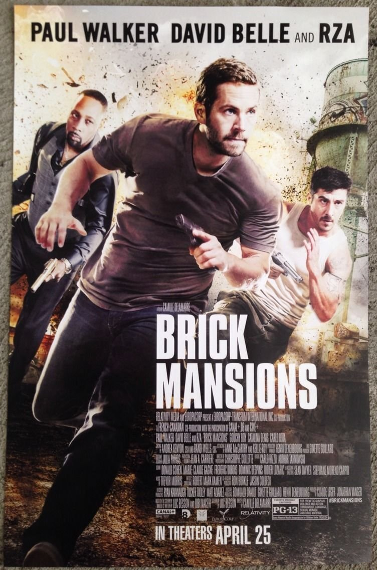 "Quotes From Brick Mansions Brick Mansions 11""x17"