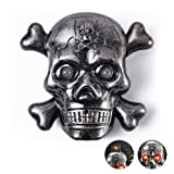 Skull Electric Cigarette Lighter, Unique Windproof Flameless USB Rechargeable Lighter with LED Light and Creepy Background Sound, Perfect Gift Idea for Halloween, Christmas, Business and Birthday (Color: Grey)