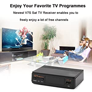 2018 Newest Upgraded Free Sat Full HD 1080P V7S FTA Receptor