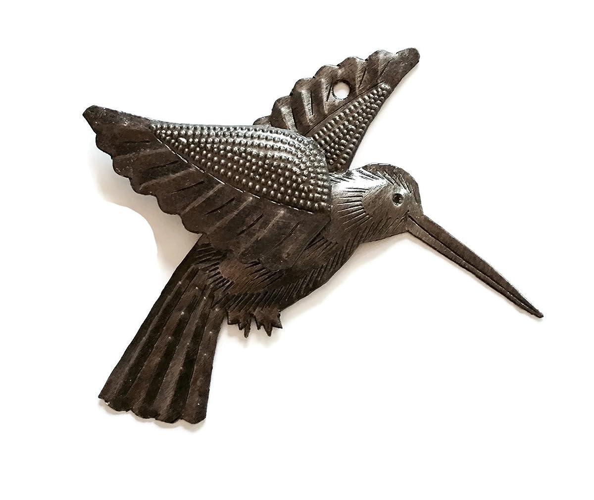 "Hummingbirds, Haitian Recycled Metal Drum Wall Art (set of 2) 6"" x 5.5"""