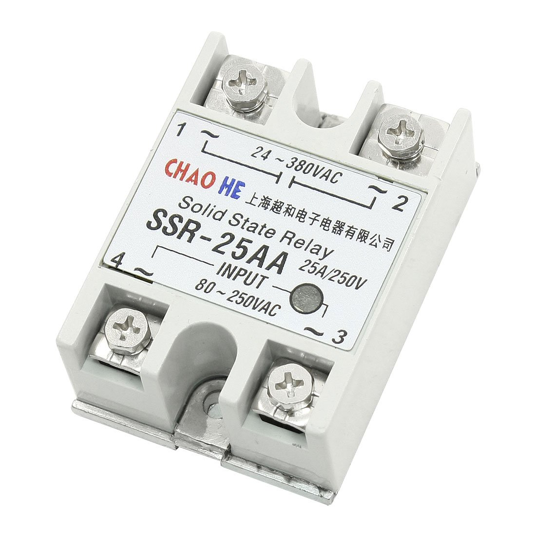 Temperature Contoller 4 Terminals Solid State Relay SSR-25 AA