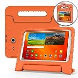 Cooper Dynamo [Rugged Kids Case] Protective Case for Samsung Tab E 9.6   Child Proof Cover, Stand, Handle   SM-T560 T561 T562 T563 T565 T567 (Orange) (Color: Orange, Tamaño: Samsung Galaxy Tab E 9.6)