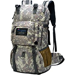 Mountaintop 40L Water Resistant Camouflage Backpack - Camouflage Grey