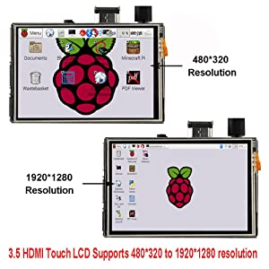 OSOYOO Touch Screen LCD Monitor HDMI Display 3.5 inch TFT Audio Output with Stylus and instructions for Raspberry Pi 3 2 Model B