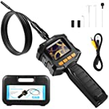 HOMIEE Borescope Inspection Camera with 2.3 Inch LCD Screen, Endoscope Camera 4 LED Lights with 3.2 Ft IP67 Waterproof Tube, Use for Pipeline Detection, Car Repairment, Air Vent, Wall Inspection (Color: W/O TF Card Slot)
