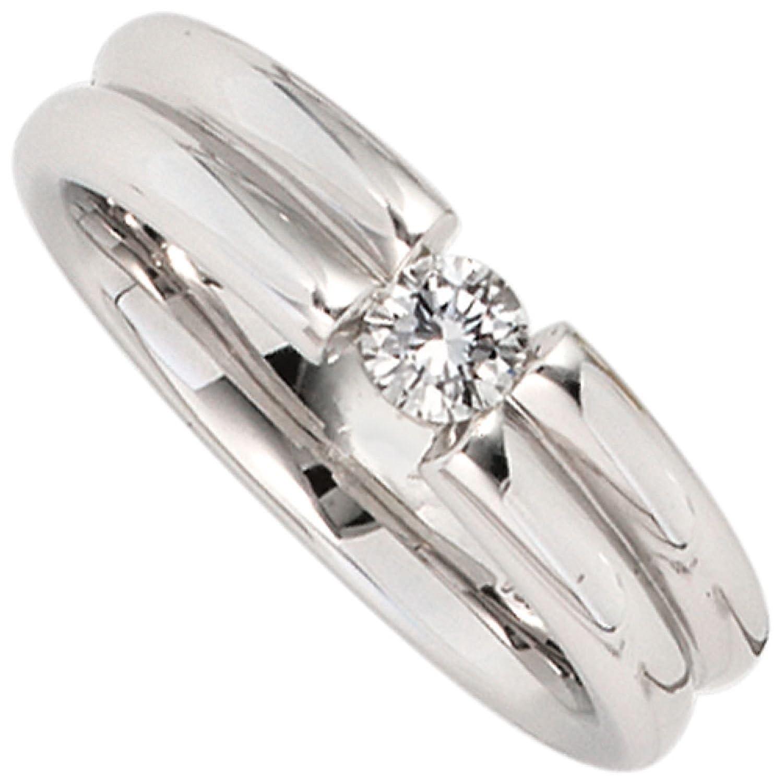 Damen-Ring 750 Weißgold 1 Diamant-Brillant jetzt kaufen