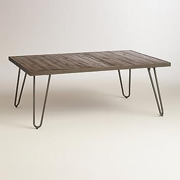 Rectangular Wood Hairpin Coffee Table - World Market