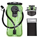 FIRINER Hydration Bladder 3 Liter Water Reservoir 100oz Backpack Reservoirs with Protective Cooler Bag Upgrade FDA Approved Leadproof BPA Free Backpacking Bladder for Outdoor Hiking Climbing Cycling (Color: Green)