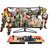 XFUNY Arcade Game Console Double Stick Arcade 815 Classic Games Machine 2 Players Pandora's Box Game Handle King of Fighters Double Fight Rocker (Color: Yellow)