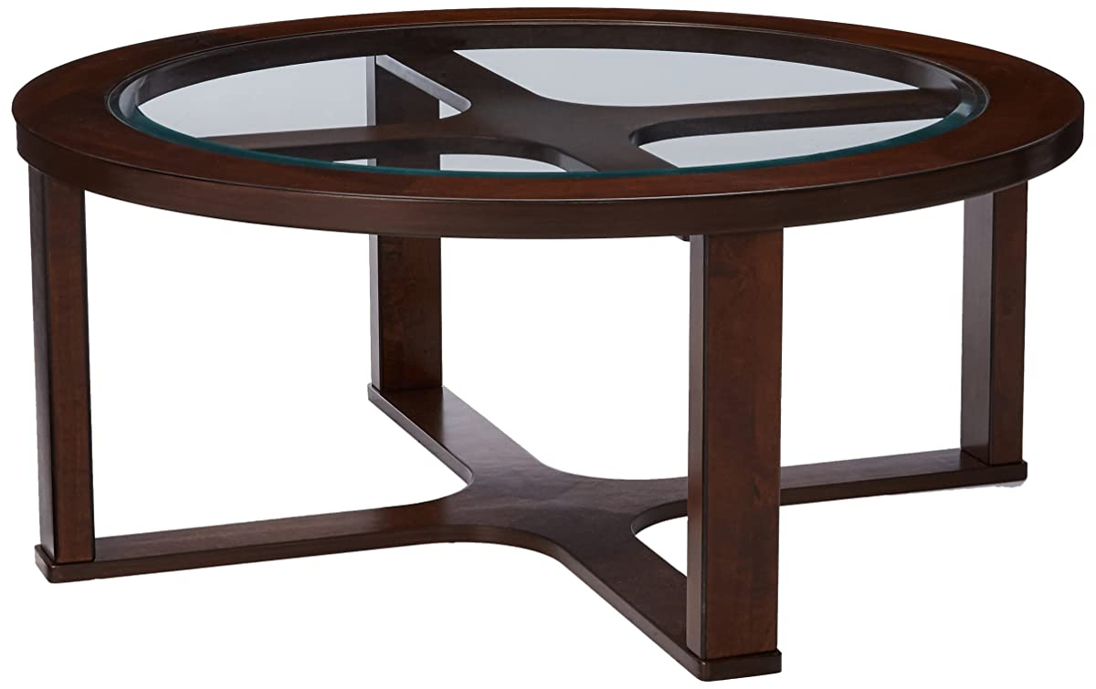 Ashley Furniture Signature Design - Marion Contemporary Coffee Table - Cocktail Height - Dark Bown