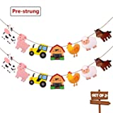 Faisichocalato Farm Animals Banner Barnyard Themed Party Decorations Birthday Baby Shower Party Supplies Set of 2
