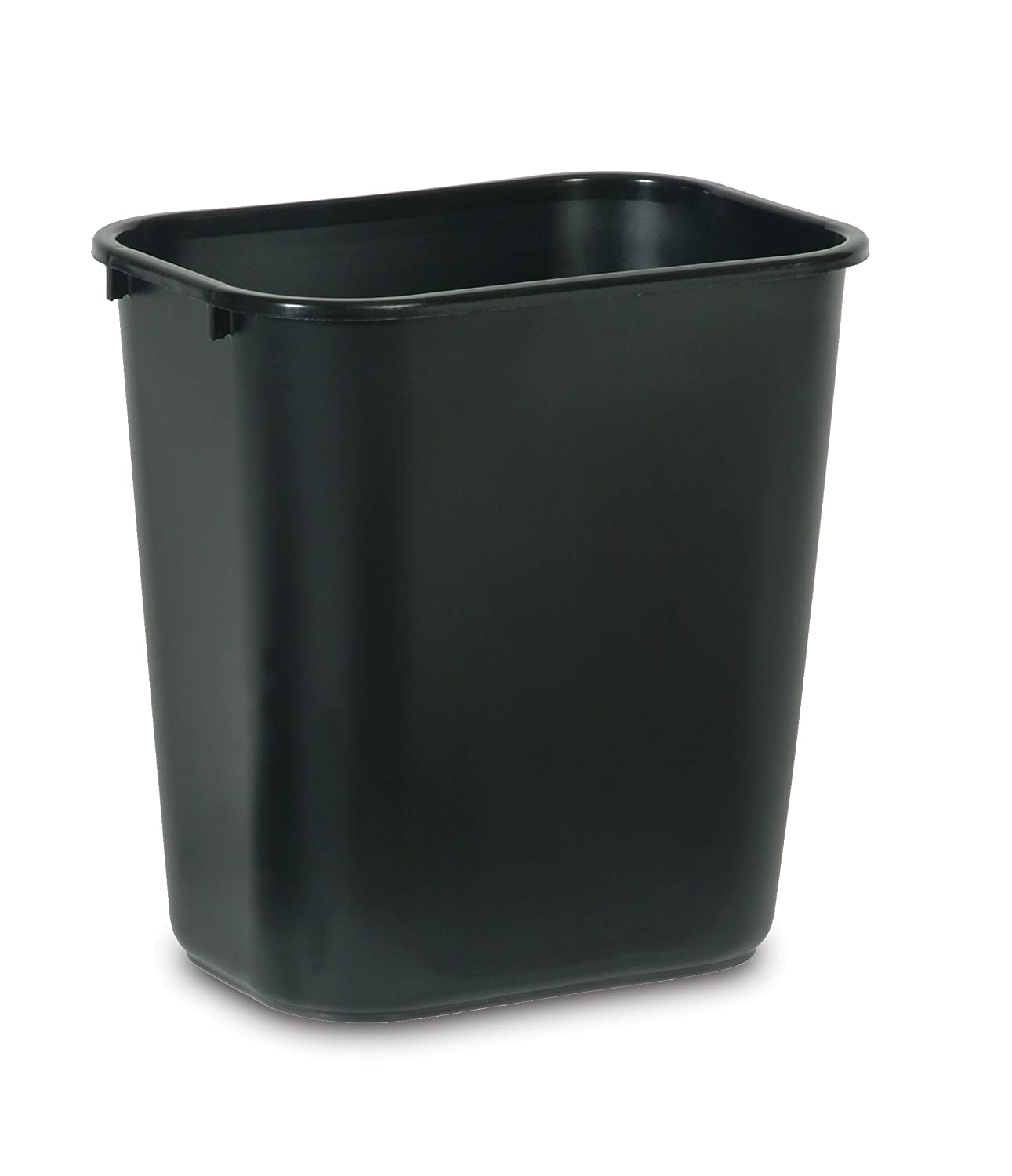 Waste basket trash can garbage black rectangle home for Bathroom garbage can