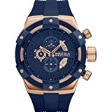 Brera Orologi: Supersportivo in Rose Gold IP and Navy (Color: Rose Gold)