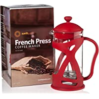 8-Cup Sunlit French Press 34 oz Coffee & Loose Leaf Tea Maker (Red)
