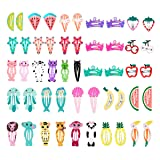 50 Pcs Snap Hair Clips, Lovely Metal Baby Girls Hair Clips for Kids Toddlers Girls Hair Accessories