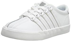 K-Swiss Classic Vintage TDL Tennis Shoe (Infant/Toddler),White/White,6 M US Toddler