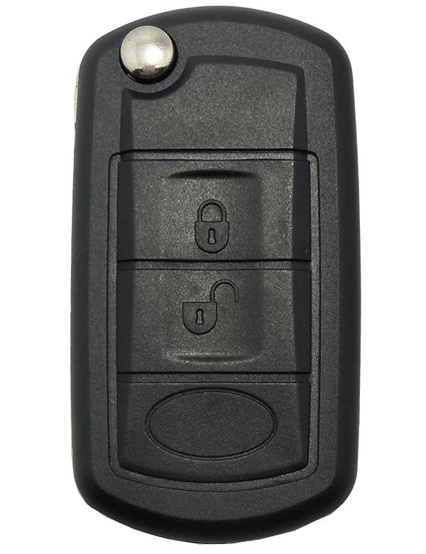Refit Flip Key Shell fit Remote Key Case for Land Rover Range Sport LR3 3BTN