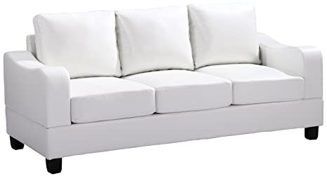 Glory Furniture G627-S Living Room Sofa, White