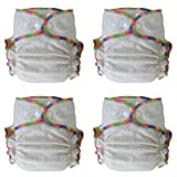 Heavy Wetter Baby Night Fitted Cloth Diaper with 2 Inserts, One Size 10-30 Lb, Hemp /Organic Cotton, 4-pack (Tamaño: 4-pack)