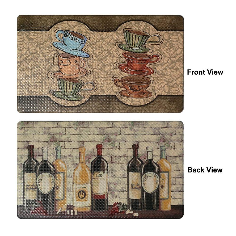 "Art3d Premium Reversible Memory Foam Kitchen Mat Anti-Fatigue Chef Mat, 18"" X 30"""