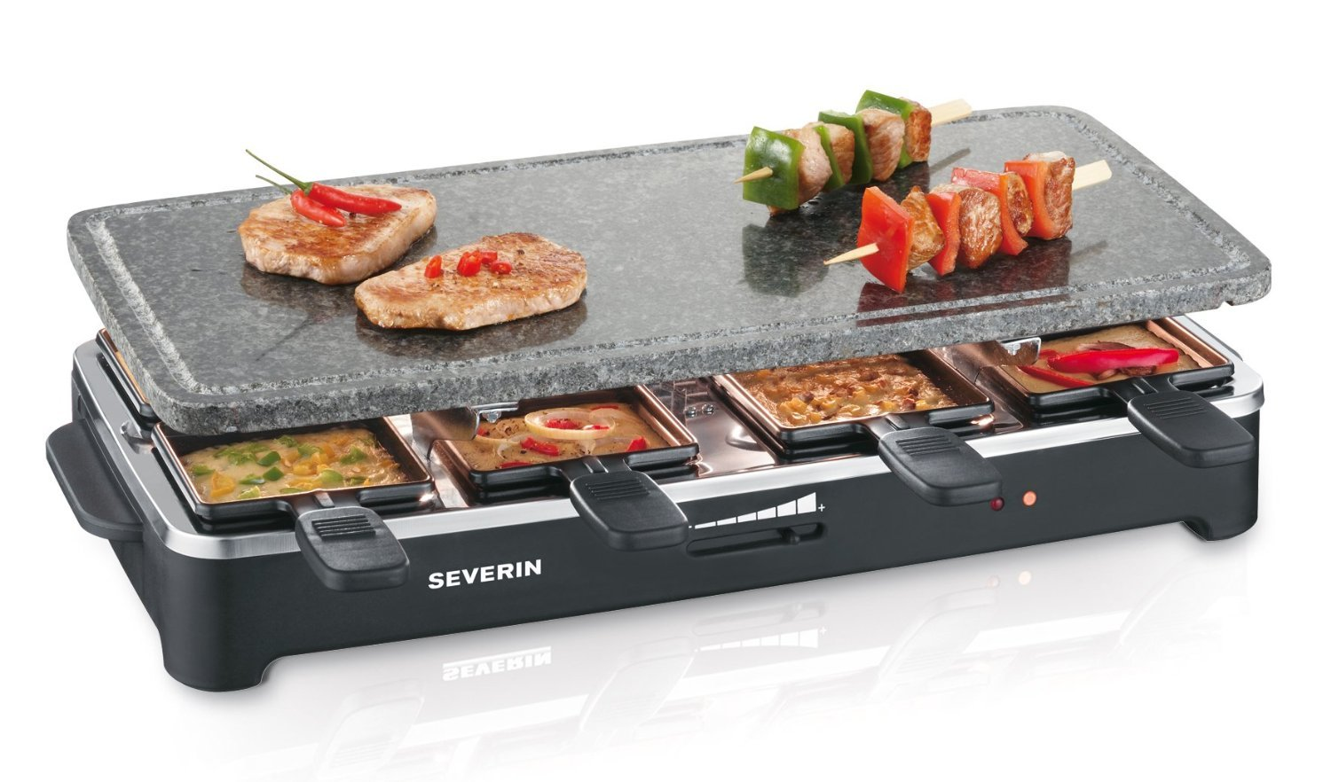 severin rg2343 barbecue raclette party grill with natural. Black Bedroom Furniture Sets. Home Design Ideas