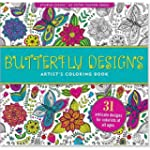 Butterfly Designs Adult Coloring Book...