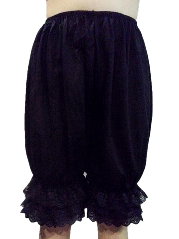 Frauen Handgefertigt Halb Slips UL5CBK Black Half Slips Cotton Women Pettipants Lace bestellen
