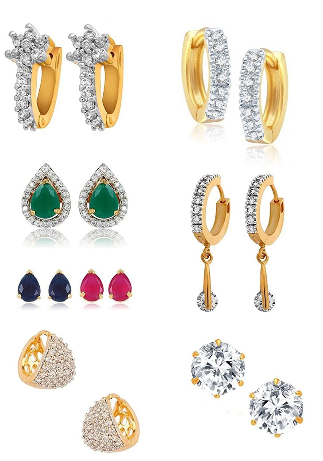Youbellabo Of Trendy American Diamond Earrings For Women