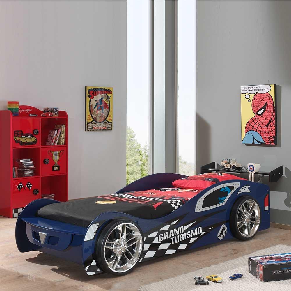 Autobett in Blau Schwarz 90×200 Pharao24 günstig kaufen