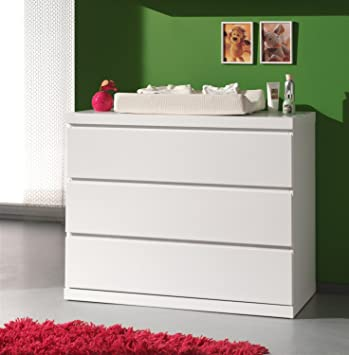 Bunk lako2314 Lara Dressing Table with 3 Drawers White MDF 110 x 57 x 90.5 cm