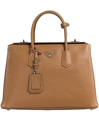 Prada Women\u0026#39;s Saffiano Cuir Leather Handbag BN2748 F098L Caramel ...