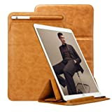 iPad Pro 10.5/11'' Case Sleeve Apple Pencil Holder TOOVREN Trifold Stand Leather PU Slim Protective Pouch Cover for iPad Pro 10.5 inch/iPad Pro 11 inch New 2018 Brown (Color: Brown 10.5'')